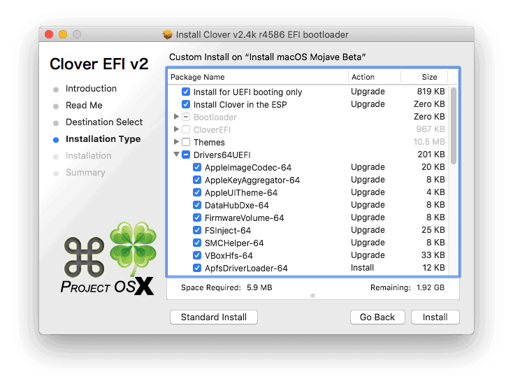 tạo Clover bootloader step 3.1